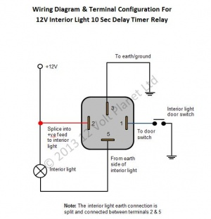 Second Interior Light Delay Timer Relay on Universal Relay Wiring